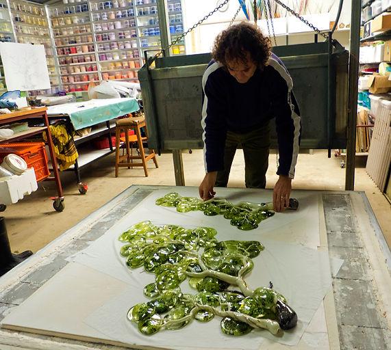 Jonathon Westacott working in Westacott Studio