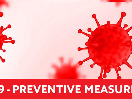 COVID-19 Coronavirus PREVENTIVE MEASURES
