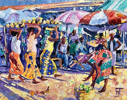 African Market Oil 35x45.jpg