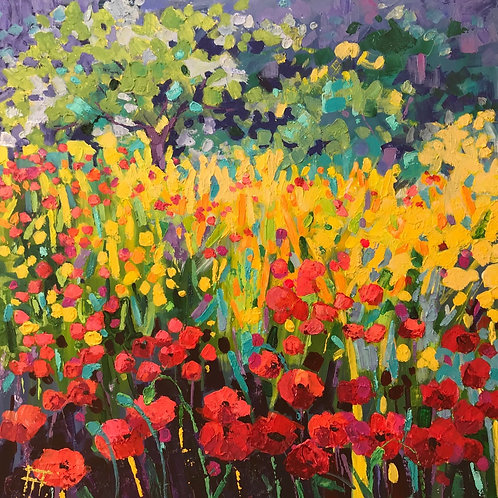 CARD - French Poppies