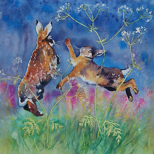 CARD - Scary Hares