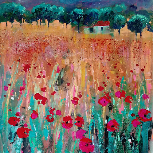 CARD - Provence Poppies