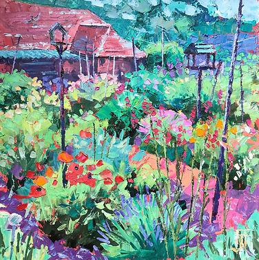 Garden at Farley Almhouses 40x40cms.jpg