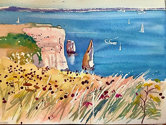 Old Harry Rocks 30x22cms.jpg