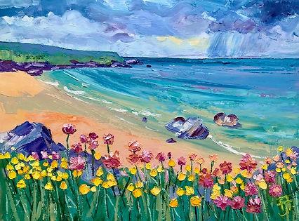 Polly Joke Beach, Cornwall Oil 44 x 33.j