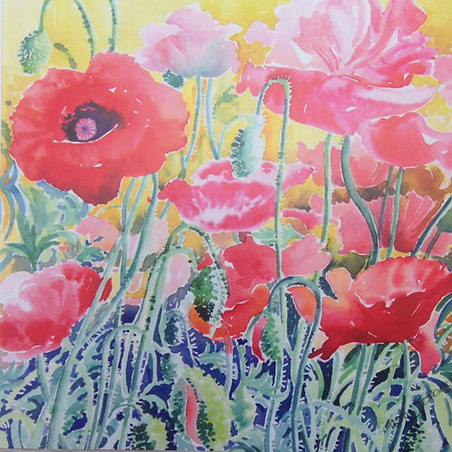 CARD - Poppies 2
