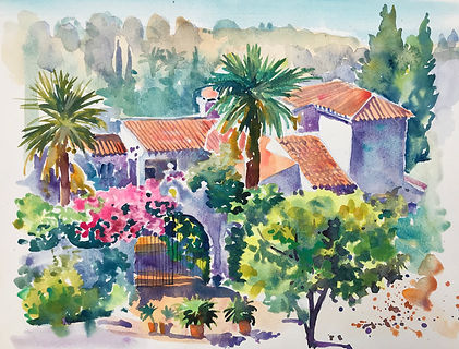 la Finca Malaga early morning watercolou