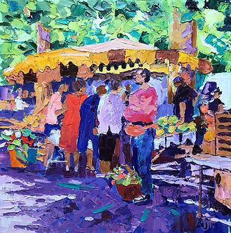 Saturday Market 28x28cms.jpg