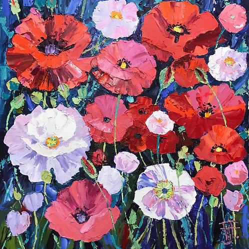 CARD - Poppies Galore
