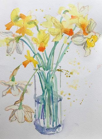 Dying Daffodiles 36x27cms.jpg