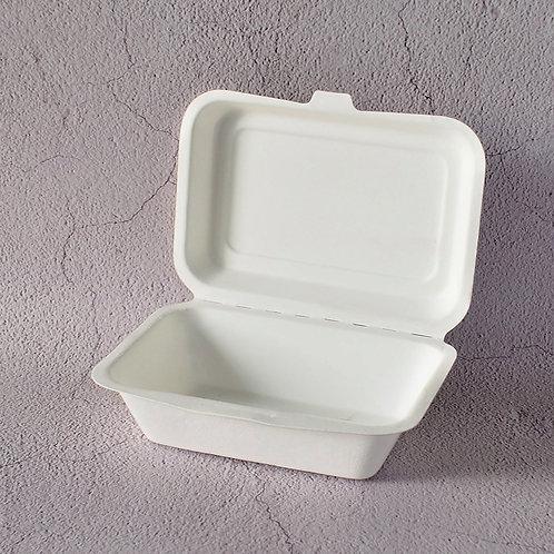 (STOCK) Biodegradable bagasses clam shell food box