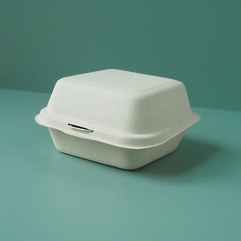 Bagasse Clamshell Takeaway Burger Box Set of 500pcs