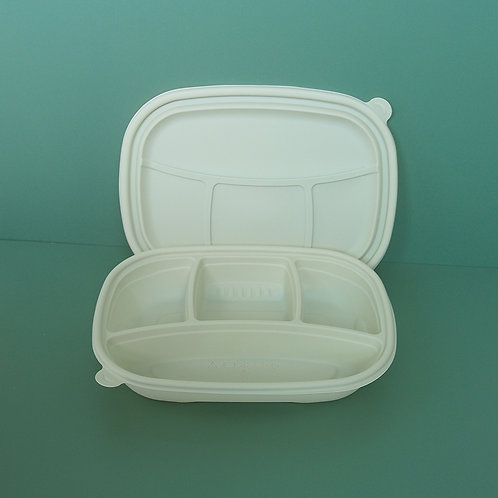 Compostable Corn Starch Food Container  multi compartment