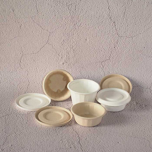 Biodegradable Bagasse Sauce Pots Dressing Container