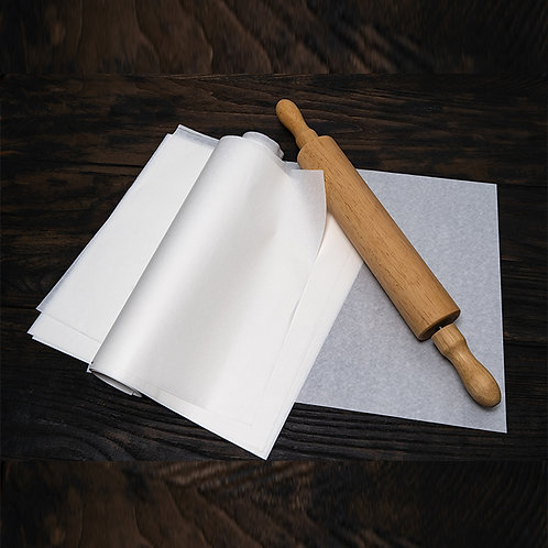 Greasproof paper solid white color 500 pcs