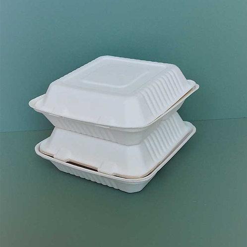 (STOCK) Clamshell Burger Box w/ multi-compartment