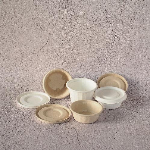 Biodegradable Bagasse Sauce Pots Dressing Container 2oz/4oz
