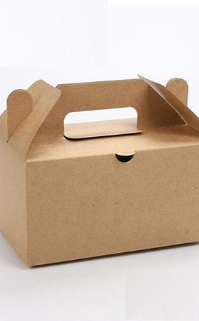 Biodegradable kraft paper carry box container 100 pcs