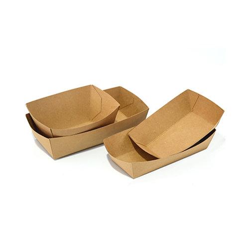 Kraft Paper Food Tray Brown 500pcs