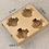 Thumbnail: Biodegradable kraft paper coffee cup tray 100 pcs