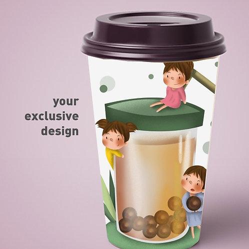 Boba Tea cup with customise logo 5000pcs