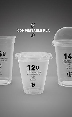 Biodegradable PLA Transperant Cold Drink Cups 1000pcs