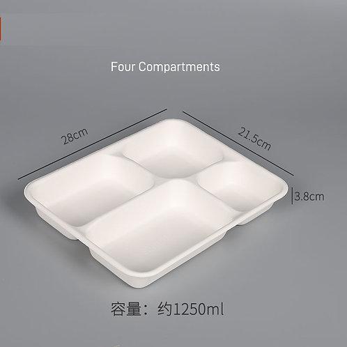 (STOCK) Sugar Cane Food container  multi compartment