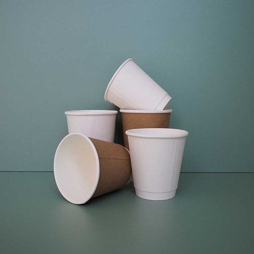 (STOCK) Double Walled Paper Coffee Cups 500 pcs