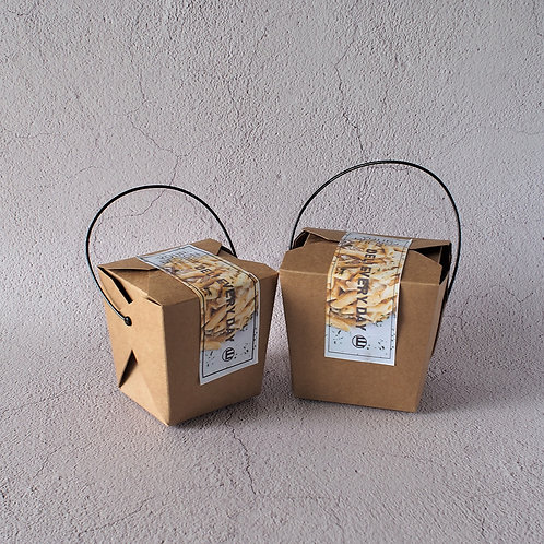 Biodegradable Kraft Paper Tote Box w/ PE Coating 100 pcs