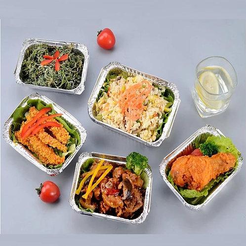 Aluminium food trays 120/250pcs