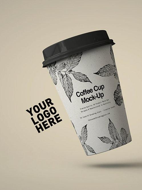 Customized LOGO single layer coffee cup 5000pcs