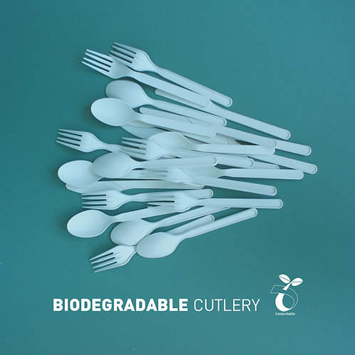 Biodegradable PLA cutlery 500pcs/sets