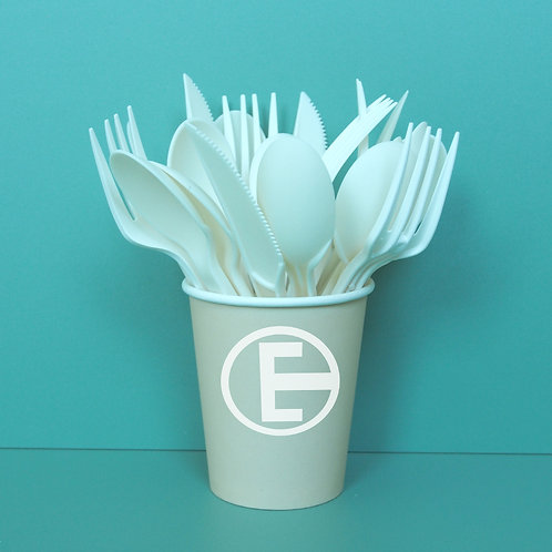 Compostable CPLA corn starch cutlery 100  pcs/sets