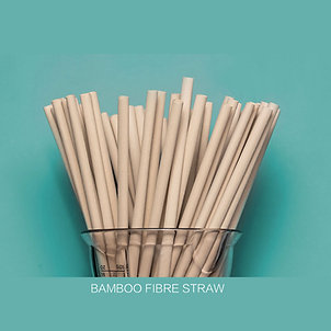Biodegradable and compostable Bamboo Fibre Straw 100pcs
