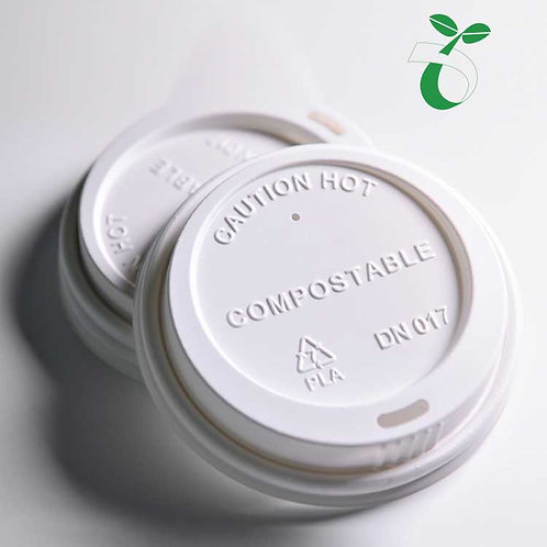 (STOCK) Compostable PLA Coffee Cup Lid