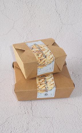 Biodegradable kraft paper Pe coating food container 100 pcs