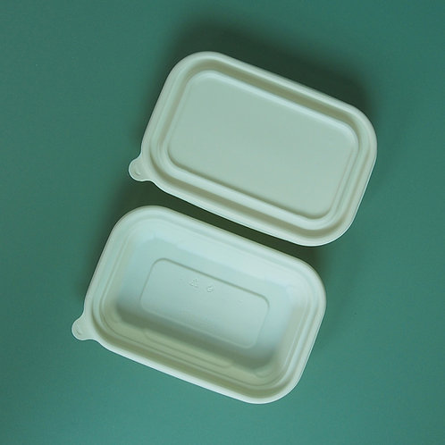Compostable Corn Starch Food Container w/ Lid