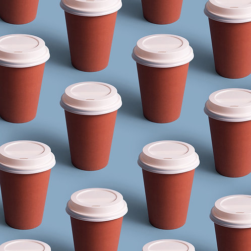 Double Walled Paper Coffee Cups w/ coating  100PCS