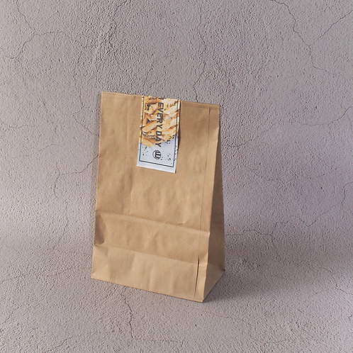 Biodegradable kraft paper food bag w/ pe coating 100pcs