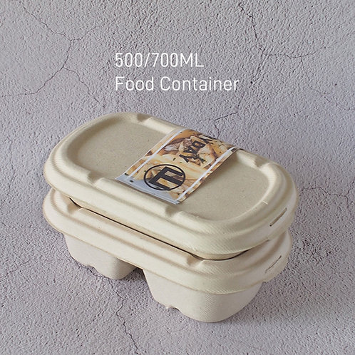 (STOCK) Biodegradable wheat straw container small capacity 300 pcs