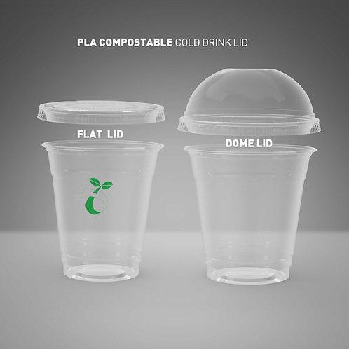 (STOCK) Biodegradable PLA Transparent Cup Lid
