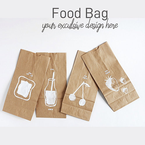 Customized your design food paper bag
