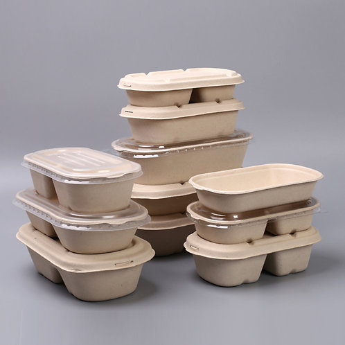 Biodegradable wheat straw food container 50pcs