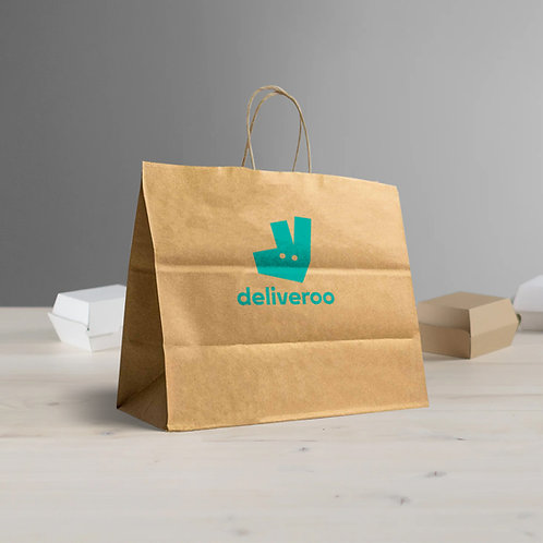 Biodegradable kraft paper shopping bag 100 pcs