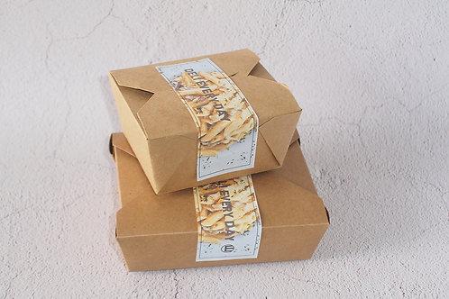 Biodegradable kraft paper Pe coating food containe 100 pcs