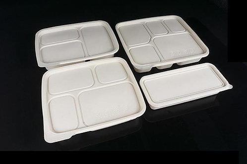 Compostable Corn Starch Food Container  multi compartment 50 pcs