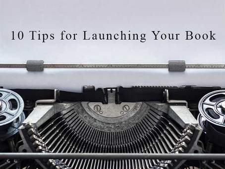 10 Tips for launching your book
