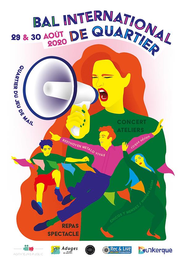 Affiche Bal International de Quartier - Dunkerque