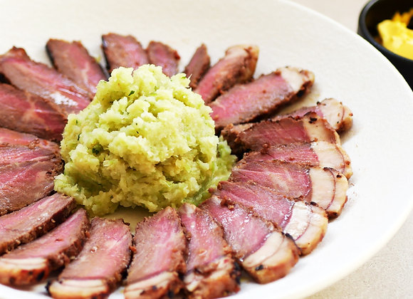 Keto Juicy Sirloin Steak with Broccoli Mash
