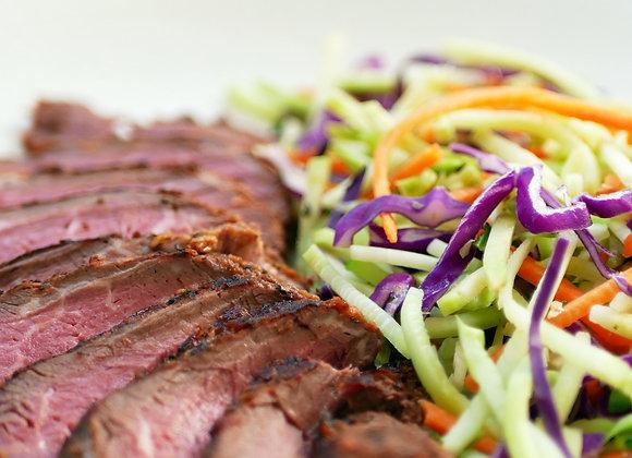Keto Grass-fed Fillet Steak with Seasonal Slaw